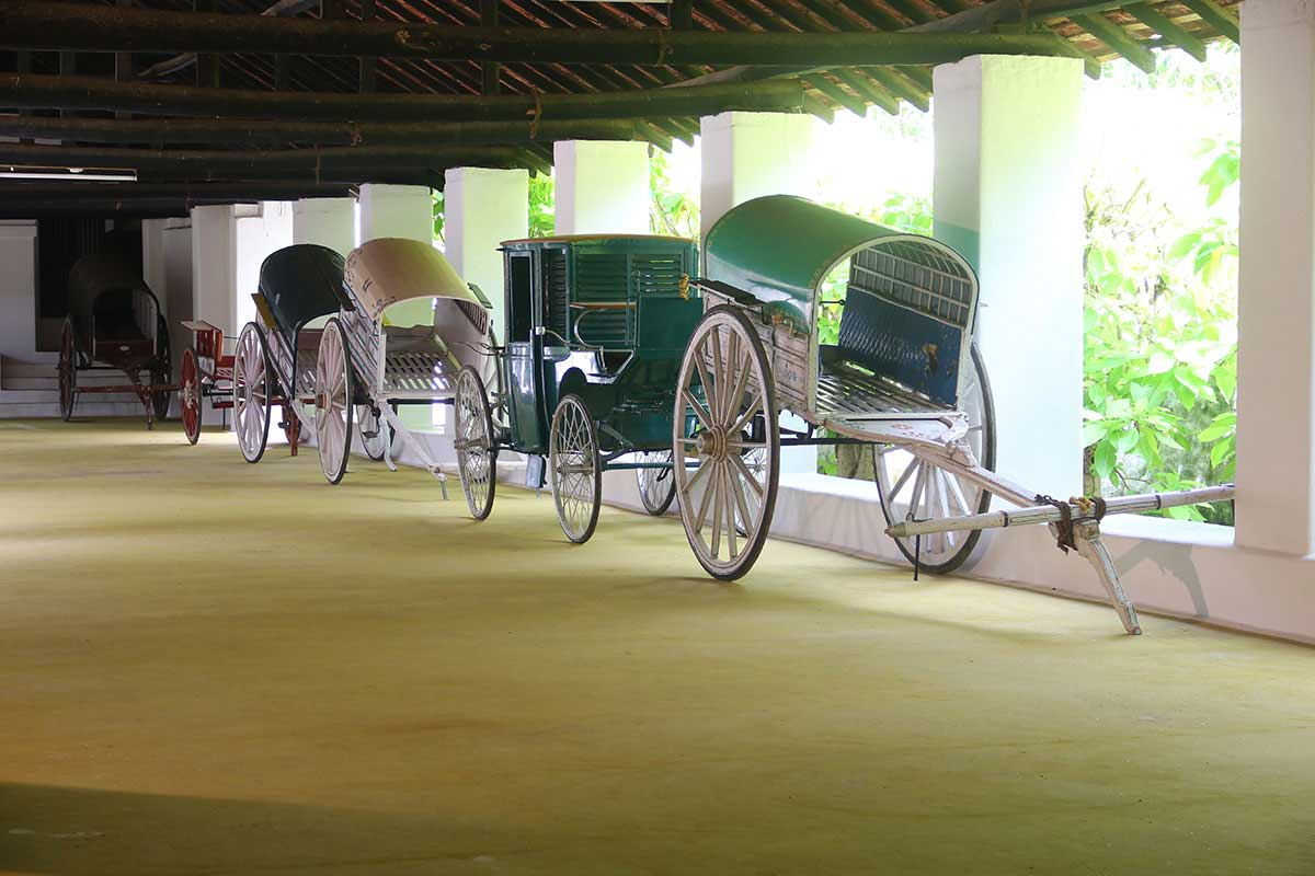 The Porch housing antique bullock carts of various capacities